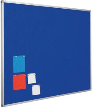 Smit Visual Pinntafel Softline aluProf 8mm, Textil blau, 60x90cm