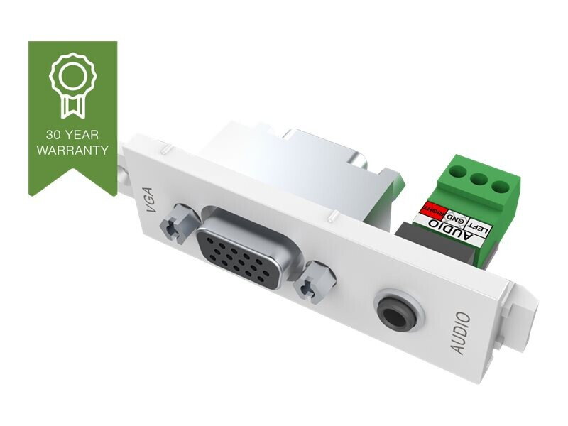 VISION TechConnect 3 VGA+3.5mm D module - modulares Faceplate-Snap-In