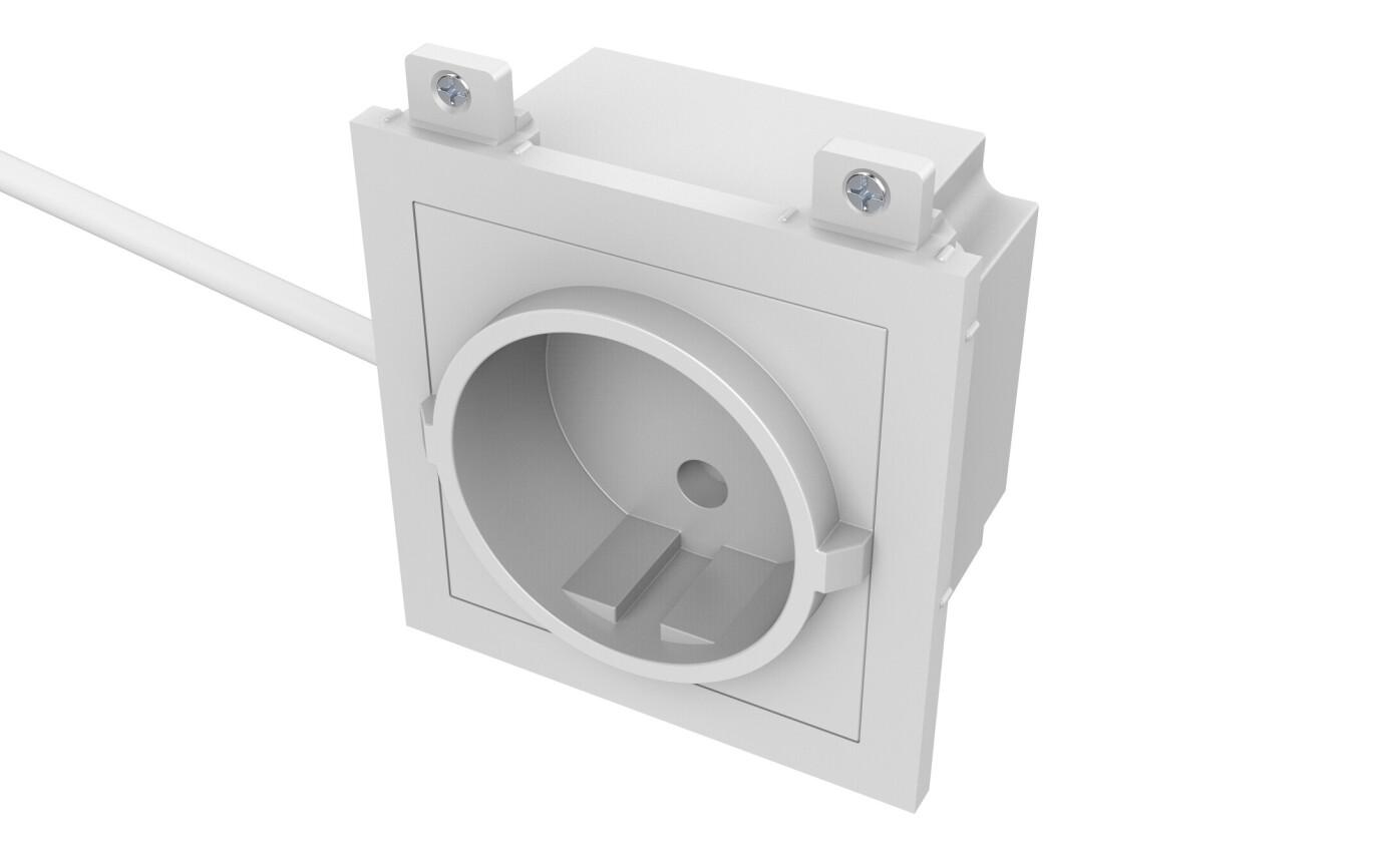 VISION TechConnect 3 EU Power module - modulares Faceplate-Snap-In