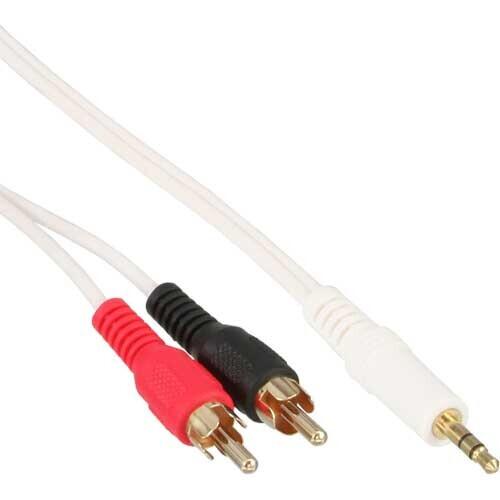 InLine Cinch/Klinke Kabel, 3.5mm Stereo-Stecker auf 2x Cinch-Stecker, 2m
