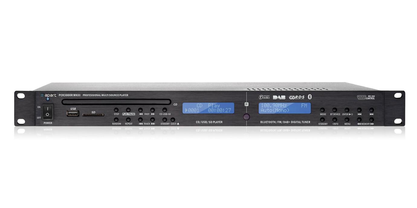 APart PCR3000R - Professionella DAB/RDS-mottagare och CD/MP3-spelare