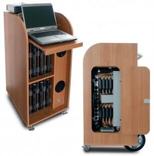 Dateks Trolley para portátiles con equipo multimedia