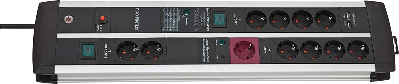 Brennenstuhl Premium-Protect-Line 120.000 A Überspannungsschutz-Automatiksteckdosenleiste