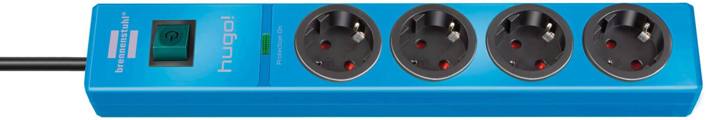 Brennenstuhl hugo! 19.500 A Überspannungsschutz-Steckdosenleiste 4-fach blau