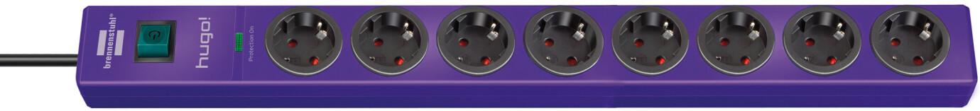 Brennenstuhl hugo! 19.500 A Überspannungsschutz-Steckdosenleiste 8-fach violett