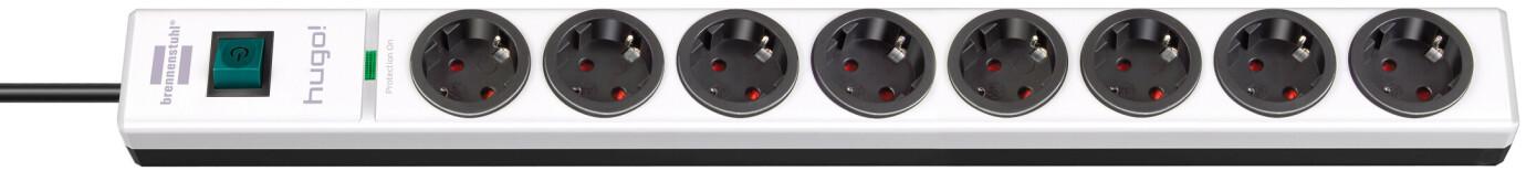 Brennenstuhl hugo! 19.500 A Überspannungsschutz-Steckdosenleiste 8-fach weiß/schwarz