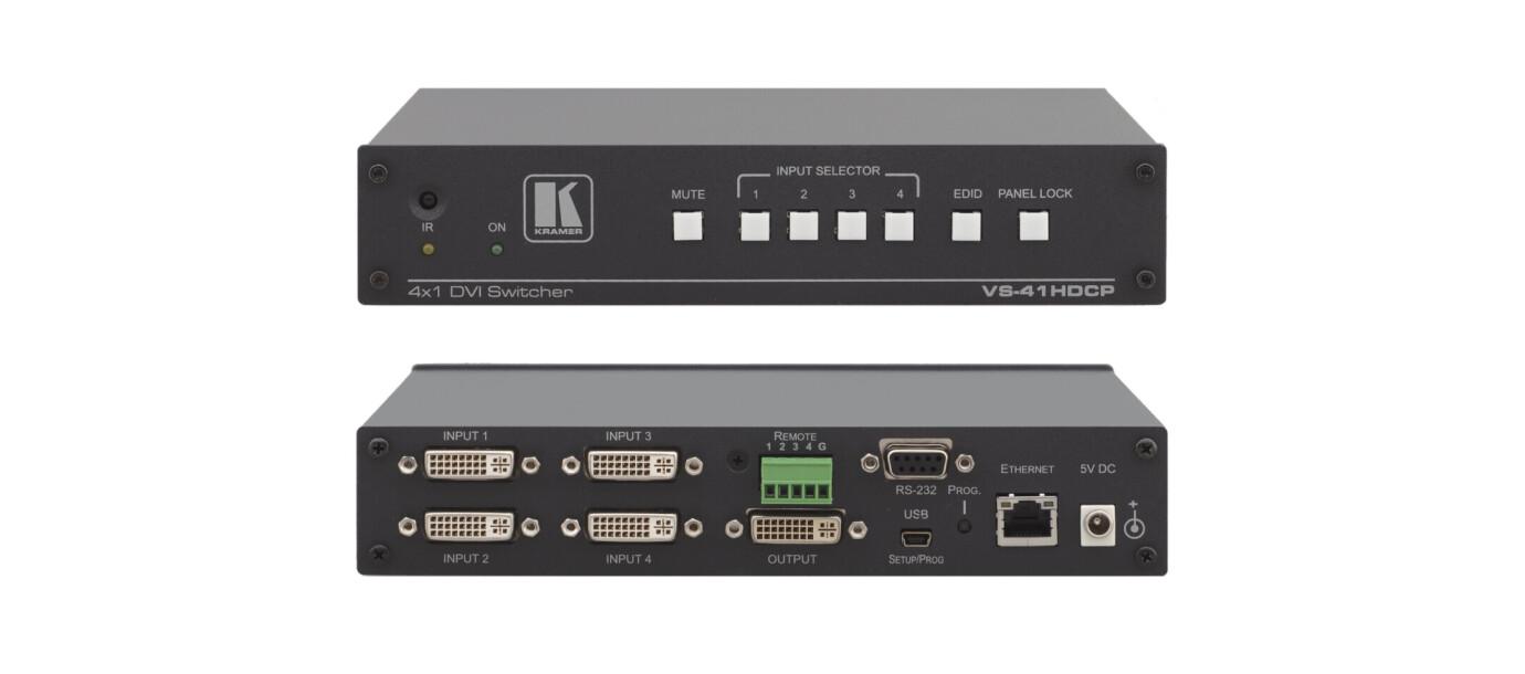 Kramer VS-41HDCP 4x1 HDCP-konformer DVI-Umschalter