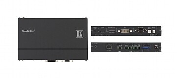 Kramer SID-X1N 4-Eingang Multi-Format-Video über Twisted Pair Übertrager und Step-In Modul