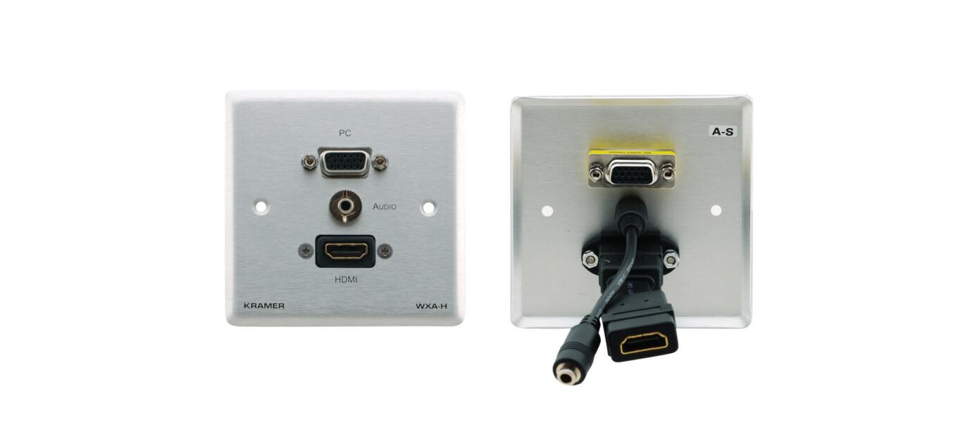 Kramer WXA-H HDMI, VGA + Audio Wand Anschlussfeld (weiss)