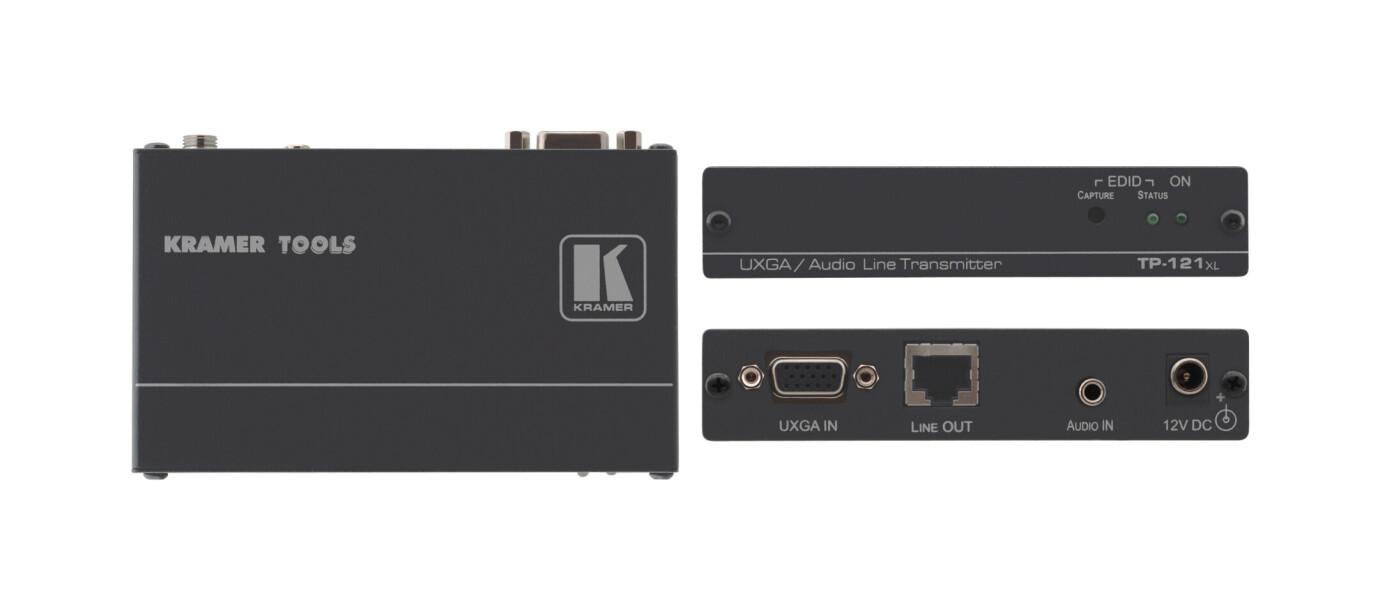 Kramer TP-121xl Transmisor de VGA y Audio Estéreo a través de Cable Trenzado, Soporte EDID
