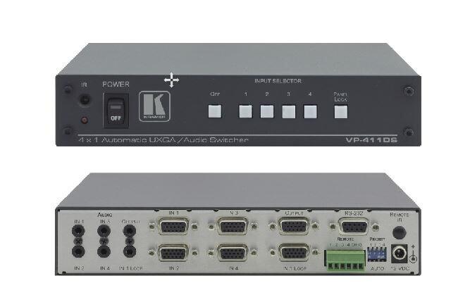 Kramer 4x1 Standby-Umschalter für Computergrafik und Stereo-Audio