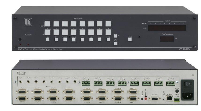 Kramer VP-8x8AK 8x8 Matrixschalter für Computergrafikvideo und Stereo-Audio