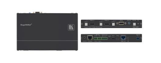 Kramer DIP-20 HDMI/VGA zu HDBaseT Übertrager & Step-In Steuermodul, mit Ethernet, bidirekt. IR & Stereo Audio