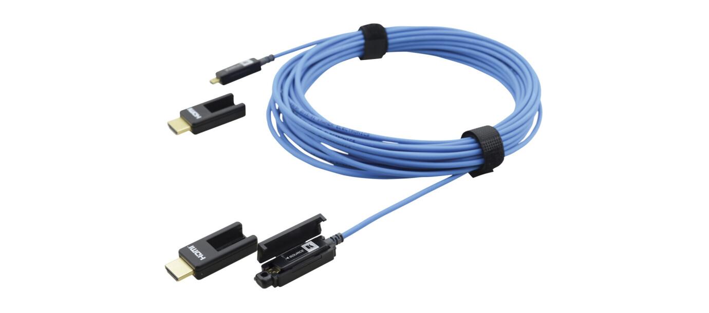 Kramer CLS-AOCH/XL cable activo optico 4K HDMI con tapones extraibles, 15m