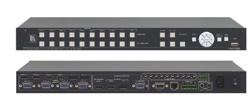Kramer VP-732 4K UHD ProScale Präsentations-Scalermatrix mit 10 Eingängen und Vorschau- & Programm-Ausgängen