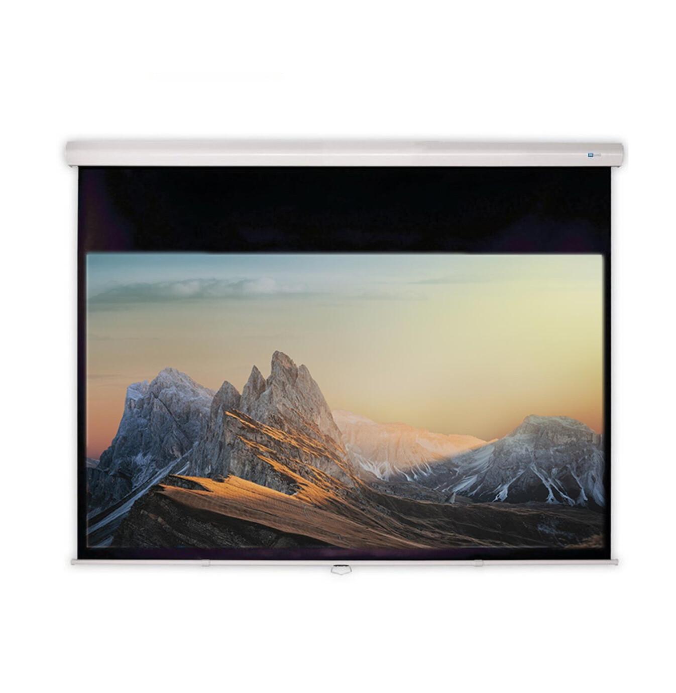 DELUXX Advanced slow motion handbediend projectiescherm 266 x 149 cm matwit Polaro