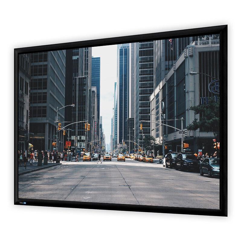 DELUXX Professional Rahmenleinwand Plano 16:10 Mattweiss Vision 300 x 187 cm