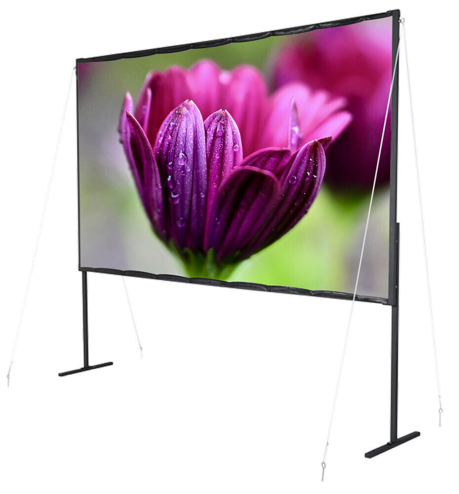 "Basic Line Mobile Folding Frame Screen - 177cm x 99cm - 80"" Diag"