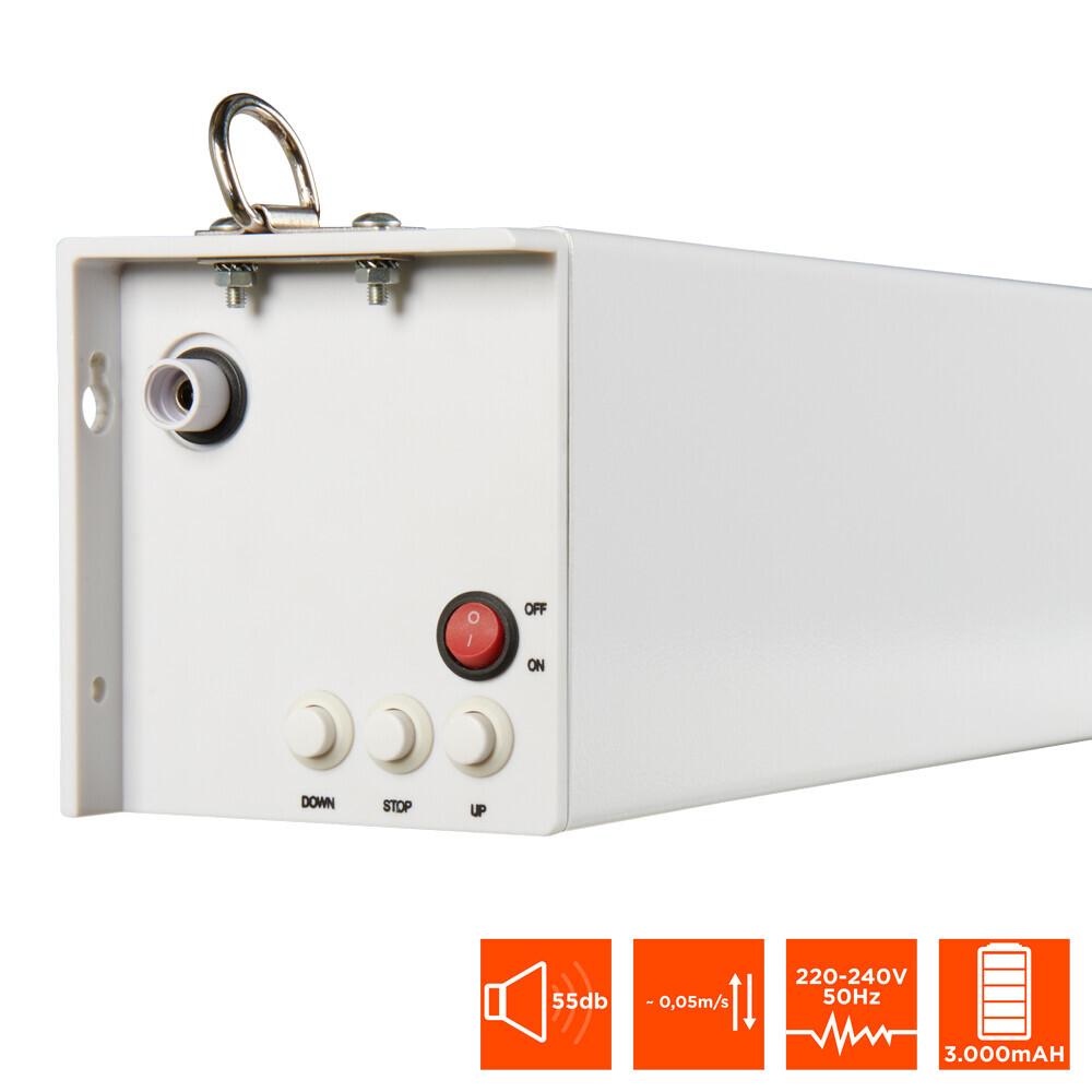 Celexon Battery Screen V2.0 - 240cm x 180cm - 4:3 Electric Battery Professional Plus