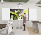 Sistema de pilones con alas para montaje en pared sin proyector 192 x 130 cm