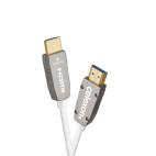 Celexon UHD fibra óptica HDMI 2.0b Cable activo 25m, blanco