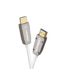 celexon UHD Optical Fibre HDMI 2.0b aktiv kabel, 25 m, vit