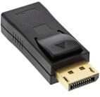 InLine Adaptador DisplayPort, DisplayPort macho a HDMI hembra, 4K/60Hz, con audio, negro