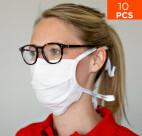 Masque de protection premium nez et bouche celexon 100% coton Oeko-Tex100 - Lot de 10 pièces