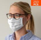celexon mondkapje Premium 100% Katoen meerlaags ÖkoTex100 met elastiek - 250 stuks