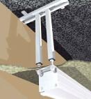 Projecta soporte de techo M8, blanco