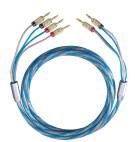 Oehlbach BI TECH 4 Bi-Wiring Kabel Set mit Kabelschuh - 2 x 2,0 m