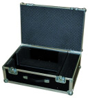Flightcase for projectors with lens compartment