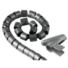 """Hama Cable Bundle Tube """"Easy Cover"""", 1.5 m, 30 mm, silver"""