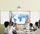 """Projektionstafel mit matter Tafeloberfläche, magnethaftend und trocken abwischbar 75"""" 1,60 x 1,00 m"""