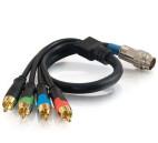 RapidRun® Cable aéreo de vídeo por componentes RCA + audio digital S/PDIF - 0,5 m