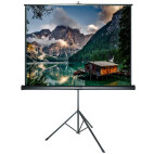 DELUXX Advanced schermo a treppiede 1:1 colore bianco opaco Polaro 152 x 152 cm