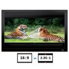 DELUXX Cinema Frame V-Adjustable 235 x 132 cm 16:9 / 21:9 MW Polaro