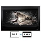 DELUXX Cinema Frame V-Adjustable 266 x 149cm 16:9/21:9 Aspect Ratio (Grey Fabric)