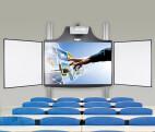 Cloudboard sistema de altura ajustable eléctricamente para montaje en pared con 2 aletas laterales y placa base (sin proyector)