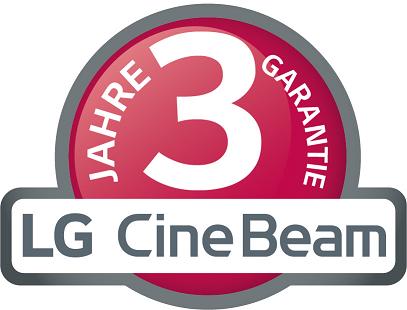 3 Jahre Herstellergarantie auf alle LG Laser und LED Beamer