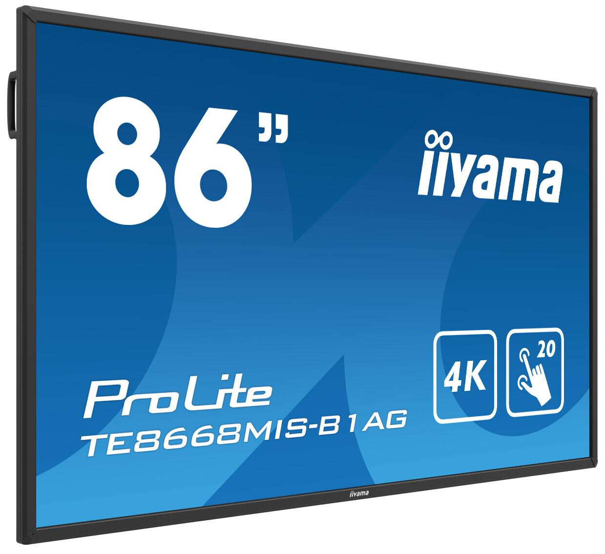 "iiyama ProLite TE8668MIS-B1AG 86"" Touchscreen mit 4K Auflösung"