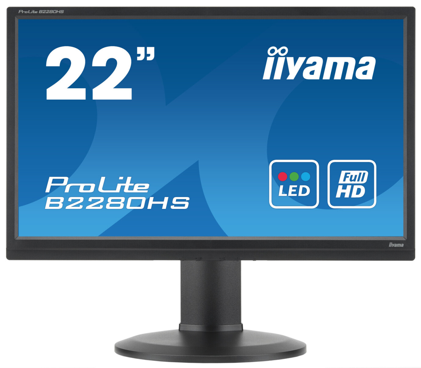 "iiyama B2280HS-W1 22"" LCD Monitor mit Full-HD und 5ms Reaktionszeit"