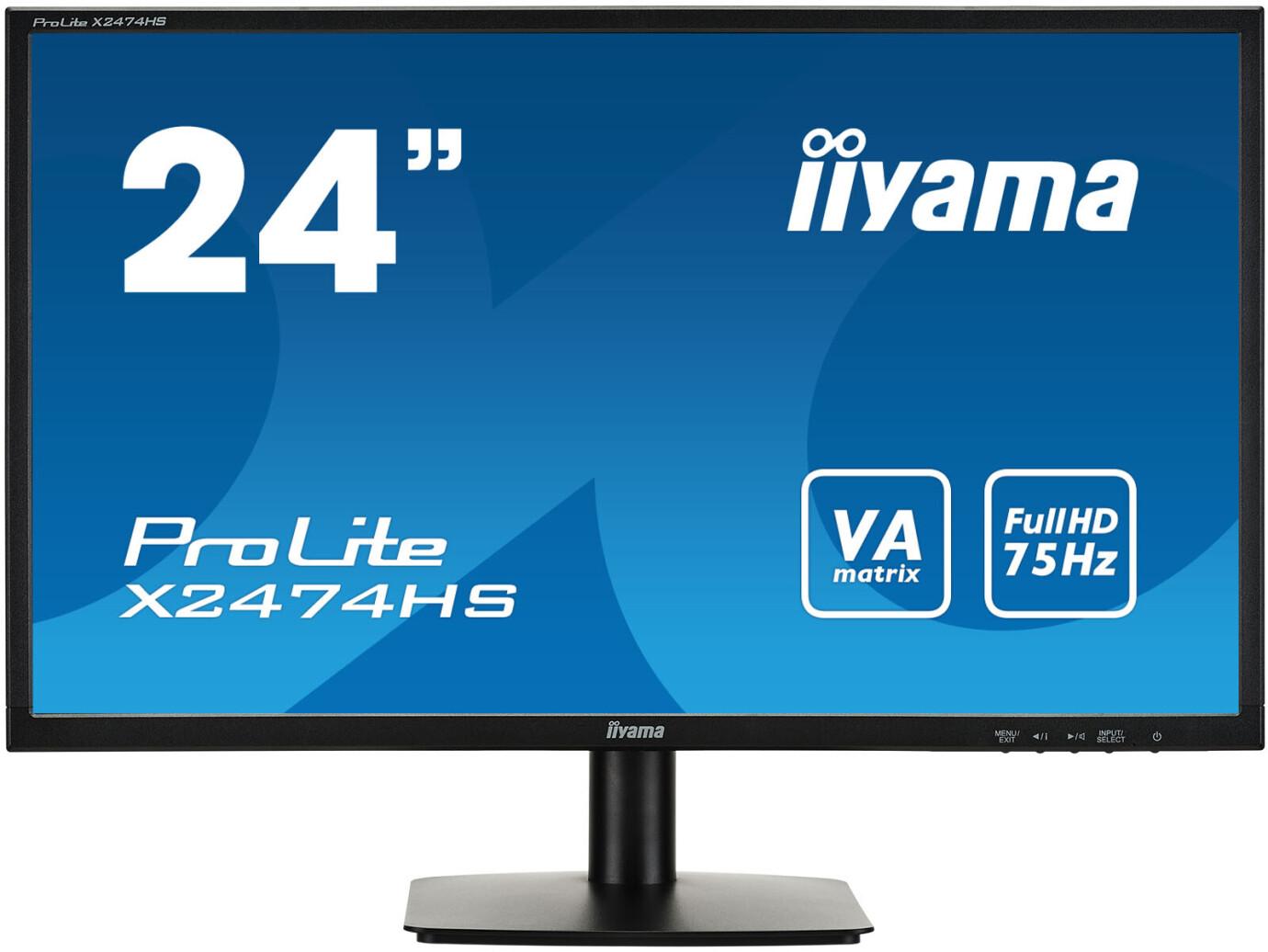 "iiyama ProLite X2474HS-B1 24"" LCD Monitor mit Full-HD und 4ms"