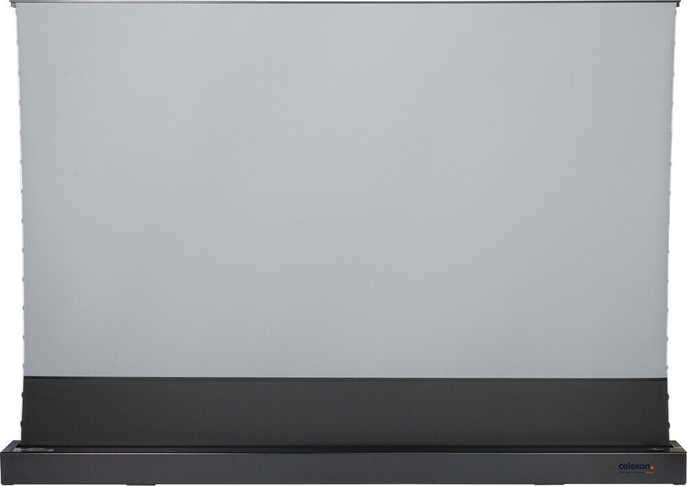 """celexon CLR HomeCinema UST elektrische Boden-Hochkontrastleinwand 110"""", 243 x 137cm - schwarz"""