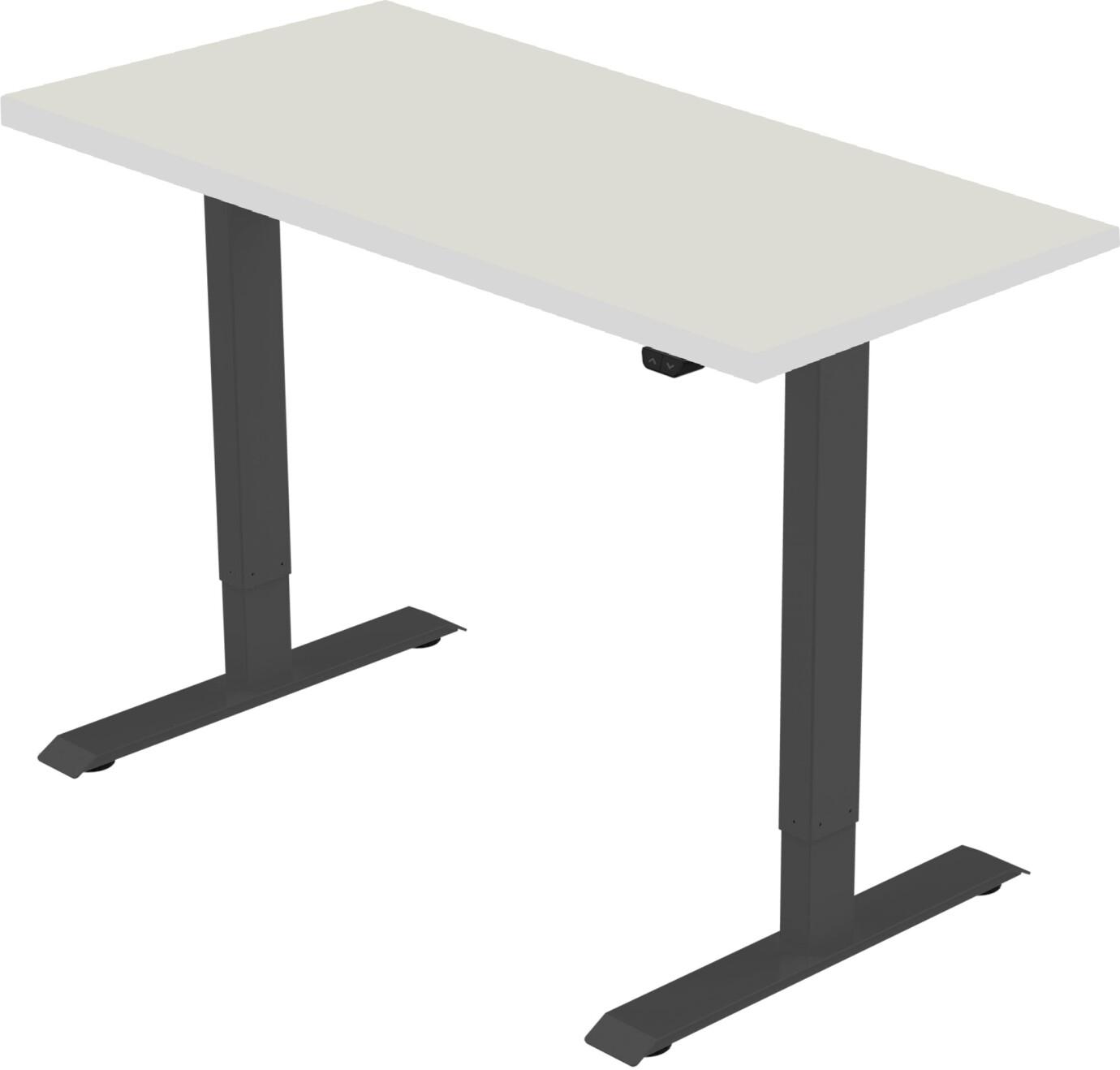 celexon elektrisch höhenverstellbarer Schreibtisch Economy eAdjust-71121 - schwarz, inkl. Tischplatt