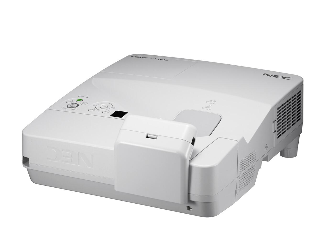 NEC UM301Wi Multi-Pen Kurzdistanzbeamer mit 3000 ANSI-Lumen und WXGA