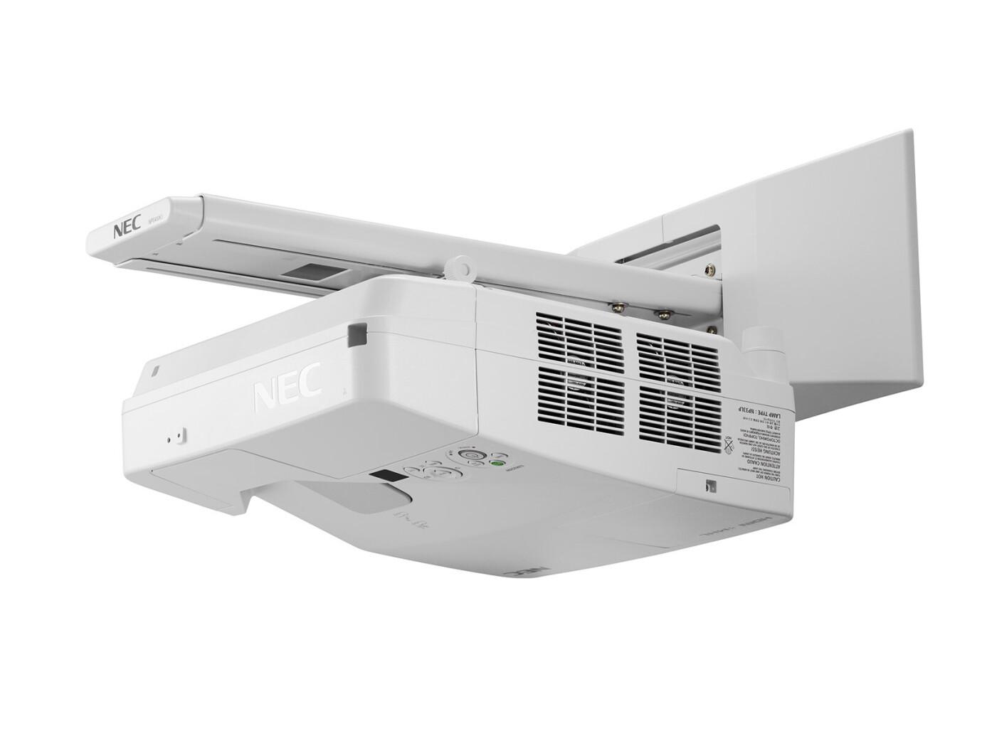 NEC UM361X inkl. Wandhalterung Kurzdistanzbeamer, 3600 ANSI-Lumen, XGA