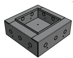 APart CMS5BBI - Einbaugehäuse Wandmontage vom CMS508 / CMS15T