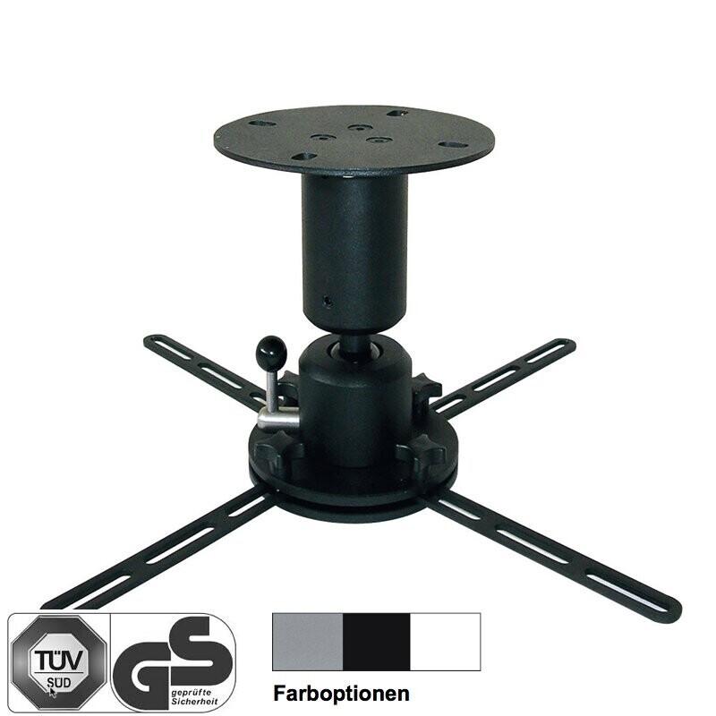 DELUXX Deckenhalter Profi-Line 15 cm schwarz