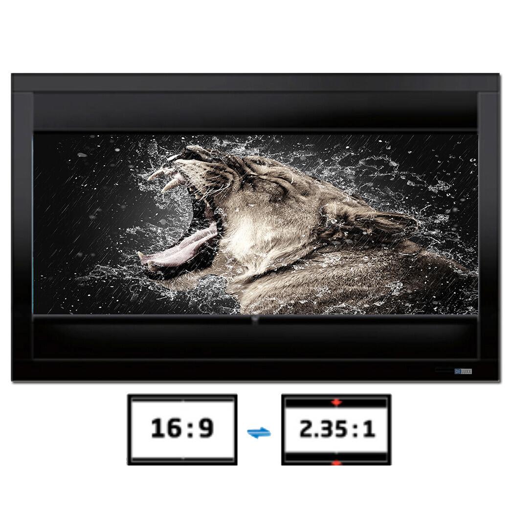 DELUXX Cinema Frame V-Adjustable 221 x 124 cm 16:9 / 21:9 CG